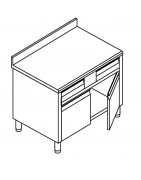 Meuble à tiroirs horizontaux portes battantes